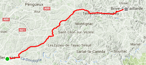 Bergerac - Brive la Gaillarde